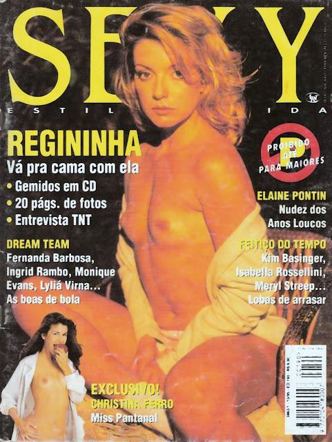 Resultado de imagem para regininha poltergeist revistas sexy