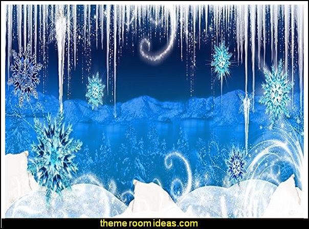 frozen themed backdrops Vinyl  Prop Photo Background