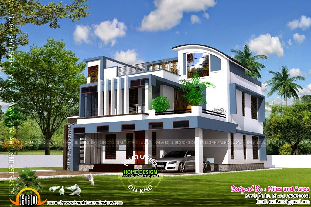 House Plan Of Beautiful Contemporary Home