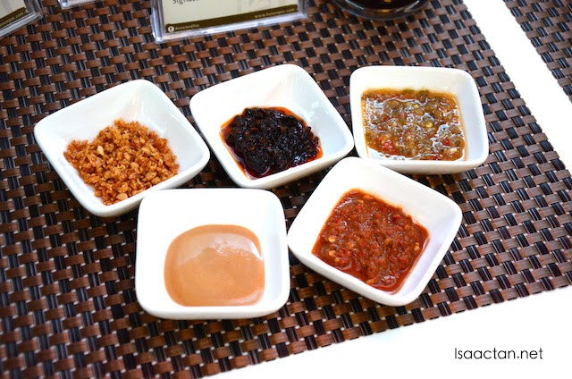 Various unique sauces available