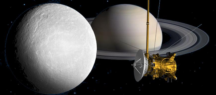 Resultado de imagen de Cassini sobrevuela por última vez la luna Titán de Saturno