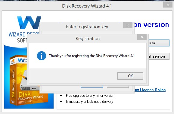 Disk Recovery Wizard 4.1 serial key