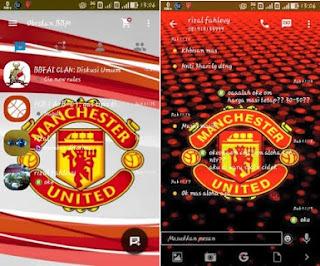 BBM Mod Tema Bola Manchester United Based 2.9.0.51 Apk