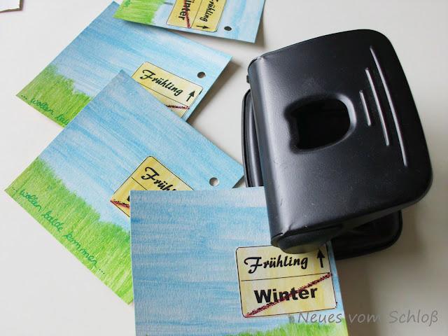mail-art-Frühling- Projekt, Neues vom Schloß