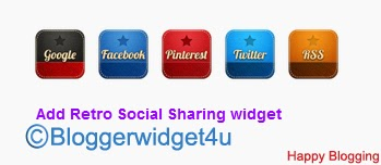 Easily add  Retro Style Social Sharing  in blog