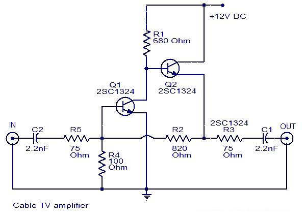 Electronics circuit application 050313 up to 20db gain can be expected from the circuitt2 is wired as an emitter follower to increase current gain circuit diagram asfbconference2016 Choice Image