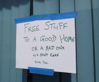 Free stuff to a good or bad home - Dr. Heckle