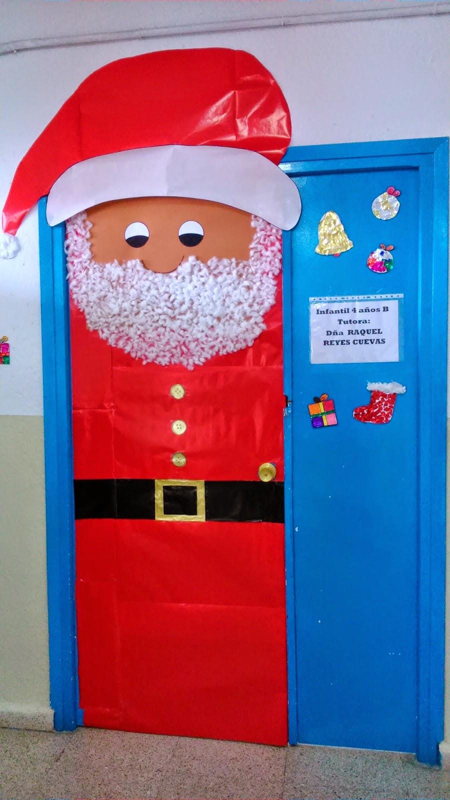Engranajes decoraci n de navidad de las puertas en infantil for Puertas decoradas santa claus