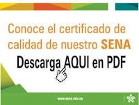 Certificado de Calidad.