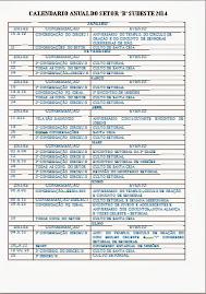 """Calendário Anual do Setor """"B"""" Sudeste - 2014"""