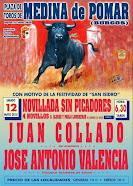 José Antonio Valencia, anunciado en Medina de Pomar (Burgos), 12/05.