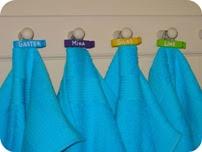 Navneskilte til håndklæder DIY