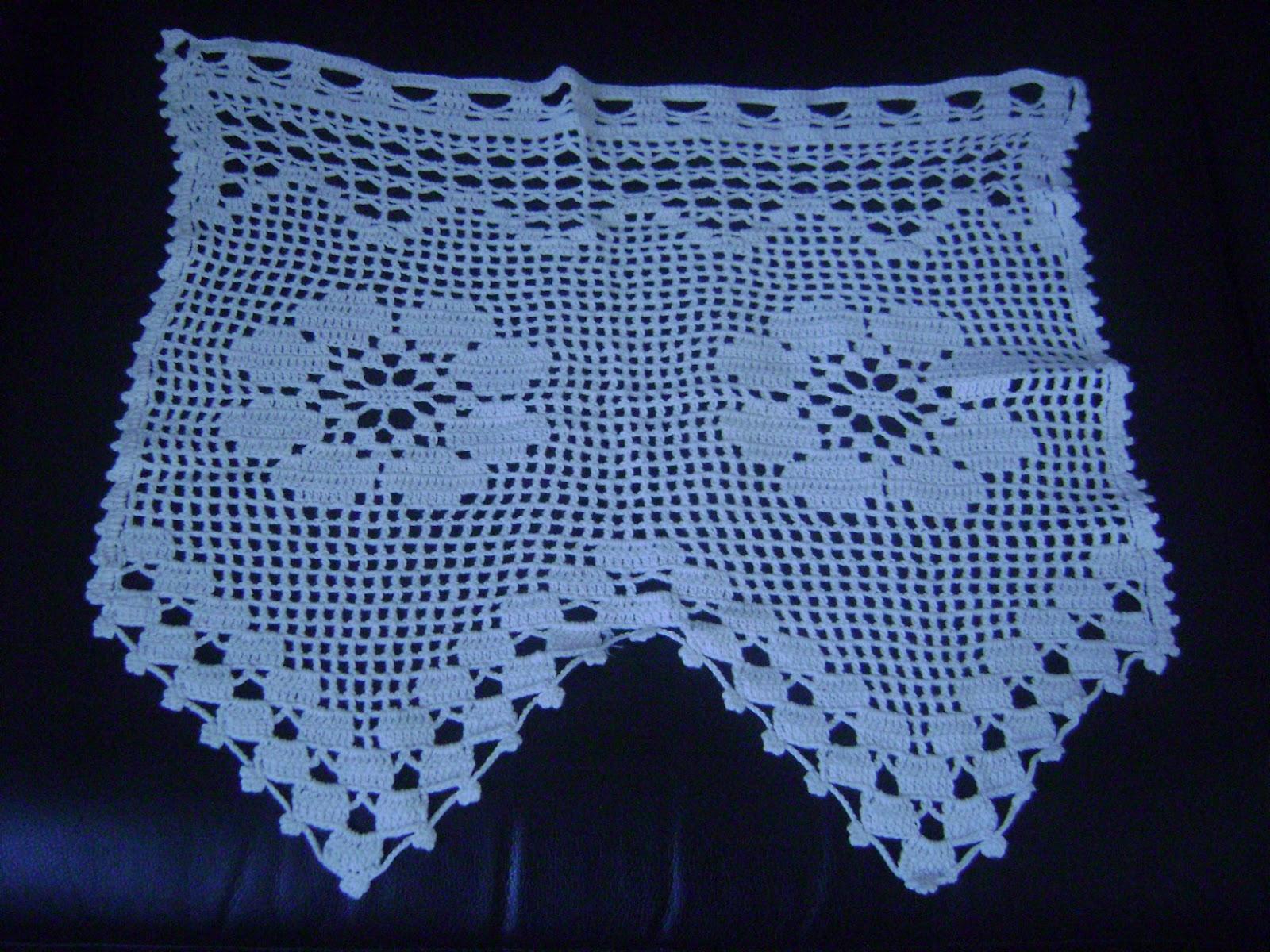 Labores maravillosas cortinas a crochet for Cortinas de gancho para cocina