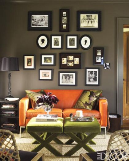 This designers palette september 2011 - Black and orange living room ideas ...