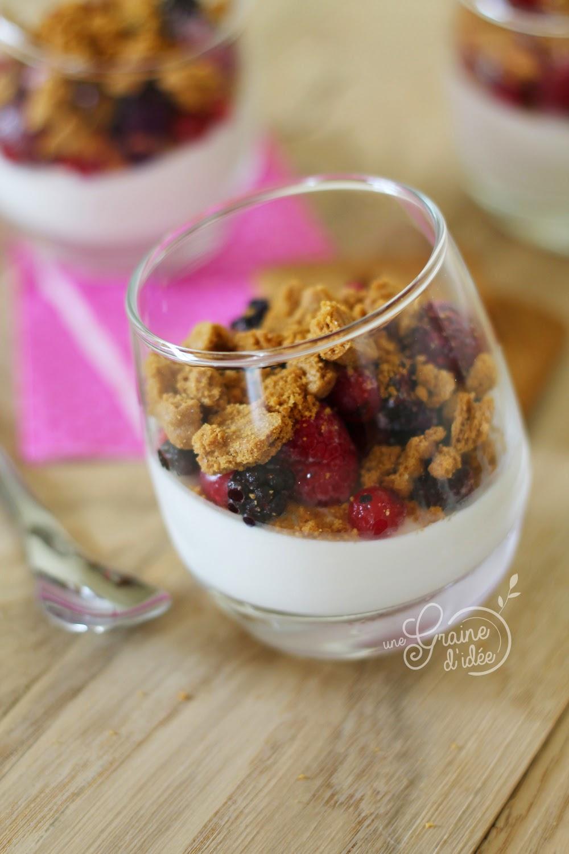 Pana cotta vanille fruits rouges spéculoos - Une Graine d'Idée