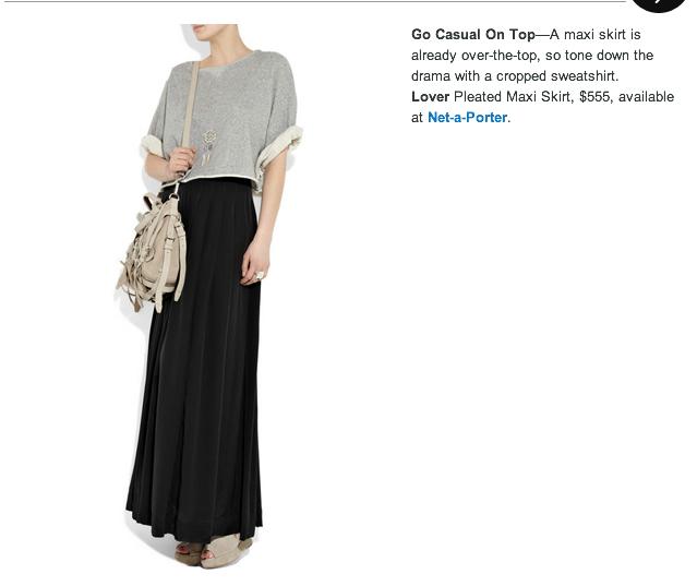 Hijabulous: Refinery 29: How To Wear This Season's Maxi Skirt