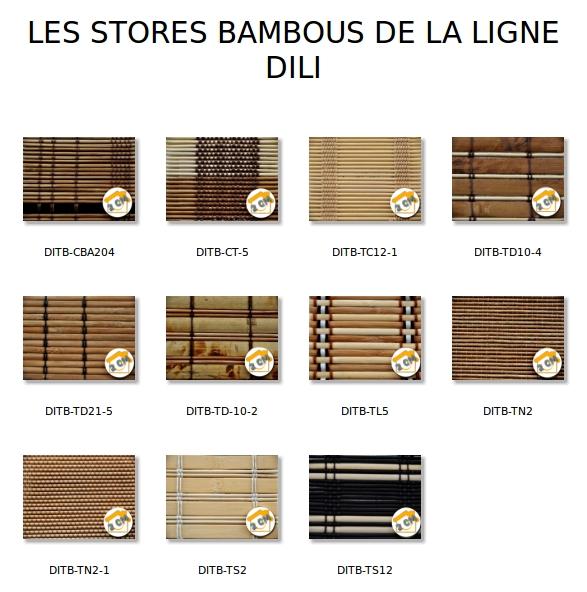 Bien etre maison stores bambou dili for Store exterieur bambou