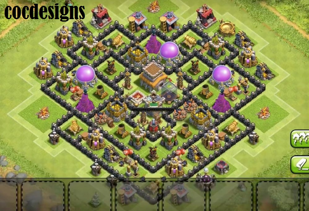 Town Hall 8 Farming Base Layout: Dark and Loot Protective - COC