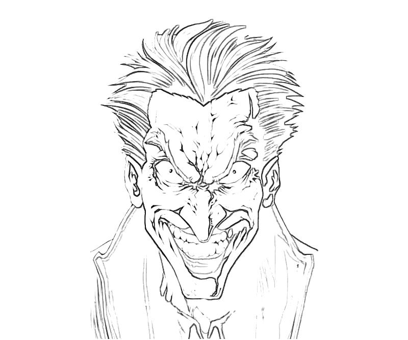 printable batman arkham city the joker face_coloring pages