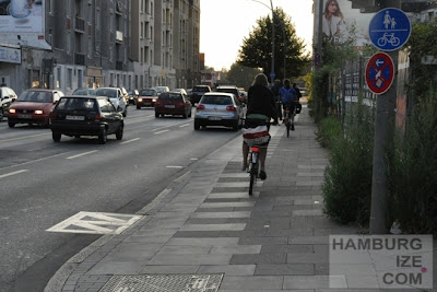 Stresemannstraße / Kieler Straße: Wegfall des Radweges