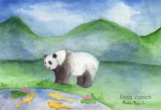 Panda Art wild fish