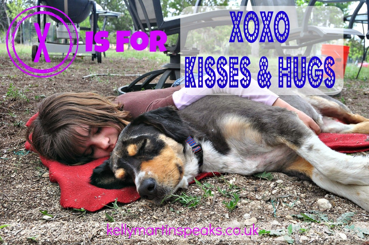 Hugs and kisses atozchallenge