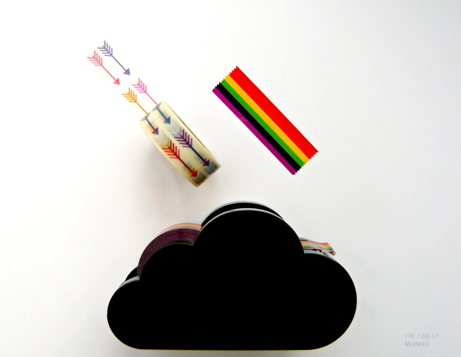 when tiger stocked a little cloud shaped tape dispenser with rainbow tape a few months ago i just resist itu0027s cute kitschy and looks pretty as
