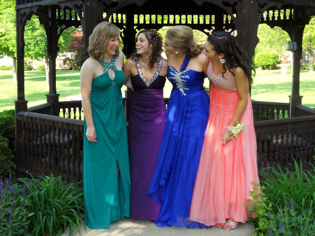 Shelby and her friends at Prom