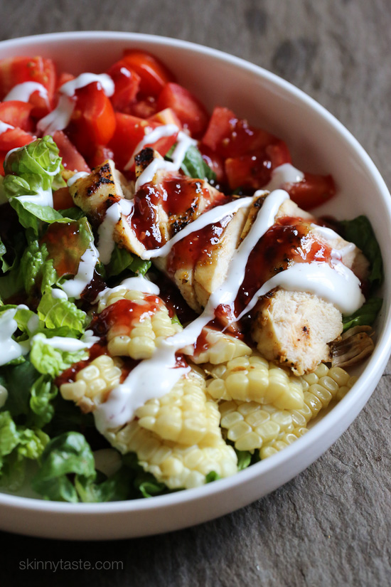 Bbq chicken salad skinnytaste for Easy salad ideas for bbq