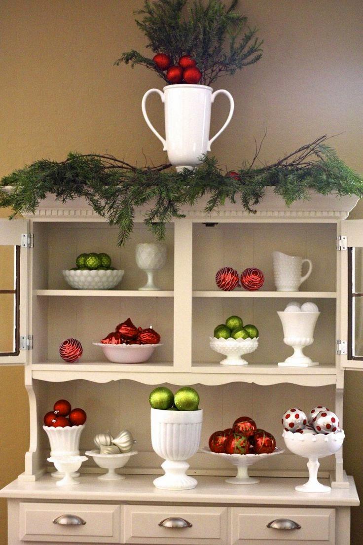 Decorating Ideas > Belle & Beau Antiquarian Milk Glass Christmas Decorations ~ 012415_Christmas Decorating Ideas Hutch