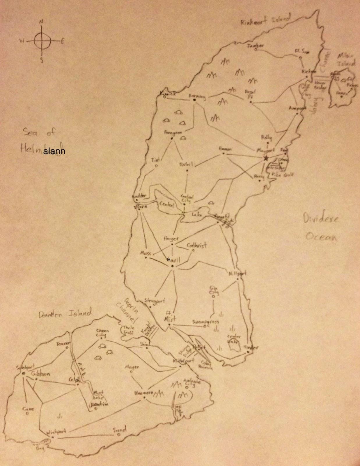 Map of Mainland Cynilann