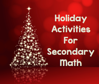 Teaching High School Math: Fun Christmas Activities for Secondary ...