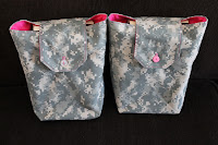 Fuschia & Camo Gift Bags Army Brat Birthday Party Favors ACU Twill by Handiworkin' Girls