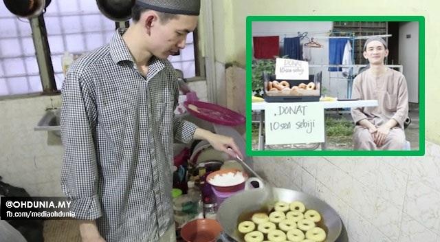 Lelaki mualaf ini jelaskan kenapa dia jual donut dengan harga 10 sen