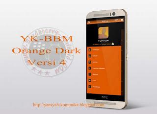 BBM2 MOD YK V4 CLONE TEMA DARK ORANGE NEW VERSI 2.9.0.51 APK