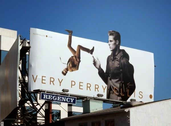 Very Perry Ellis backflip billboard