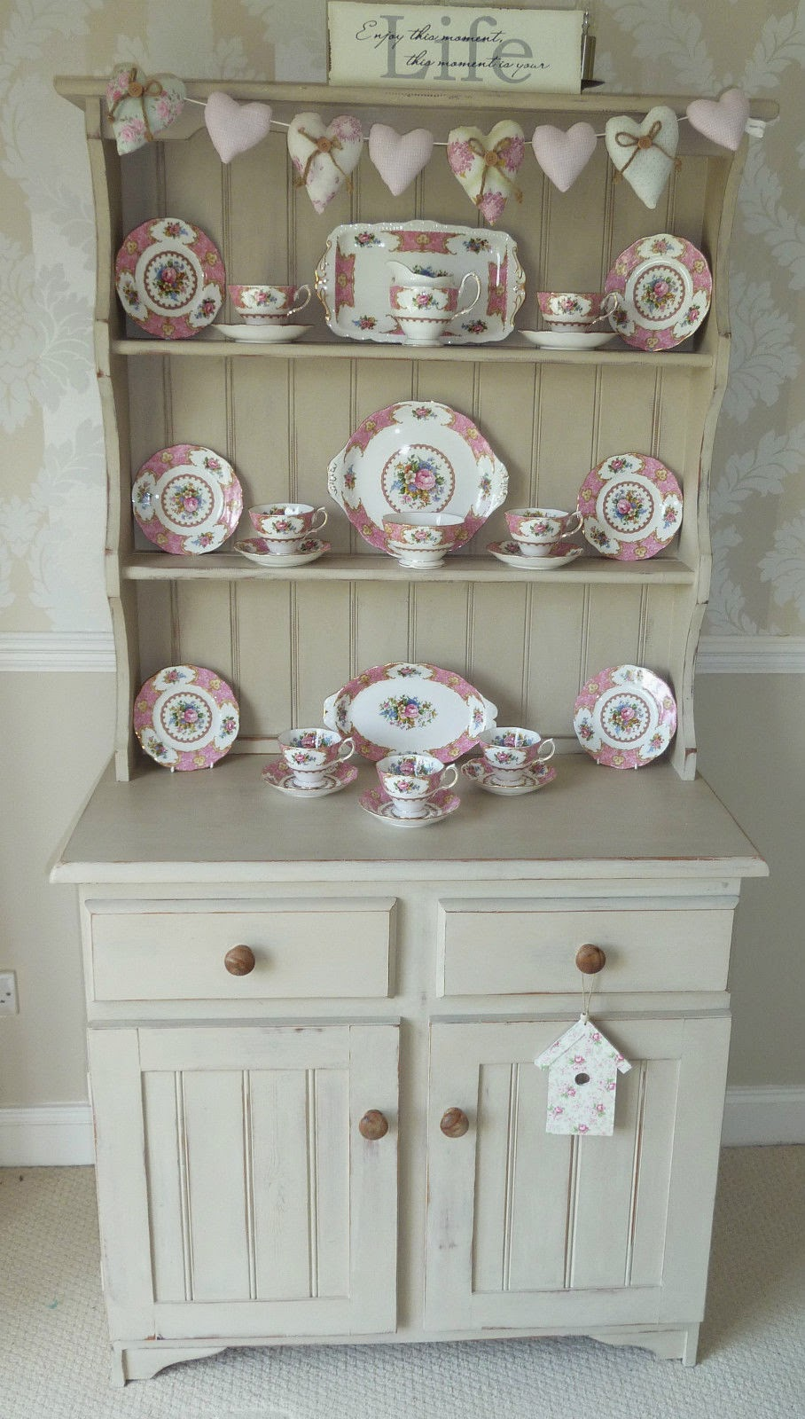 Shabby Chic Country Sisters SOLD Shabby Chic Welsh Dresser Painted With An