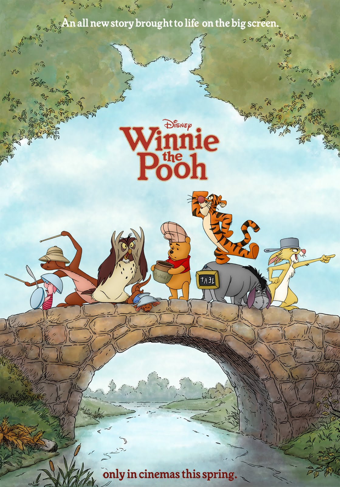 rock paper scissors winnie the pooh film poster. Black Bedroom Furniture Sets. Home Design Ideas