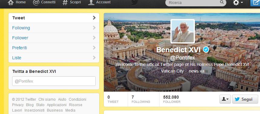 pontifex faiunadomandaalpapa twitter