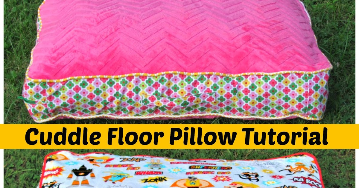 sewvery cuddle floor pillow tutorial and matching blankets