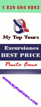 "Reserva tus excursiones en Punta Cana con ""MY TOP TOURS"""
