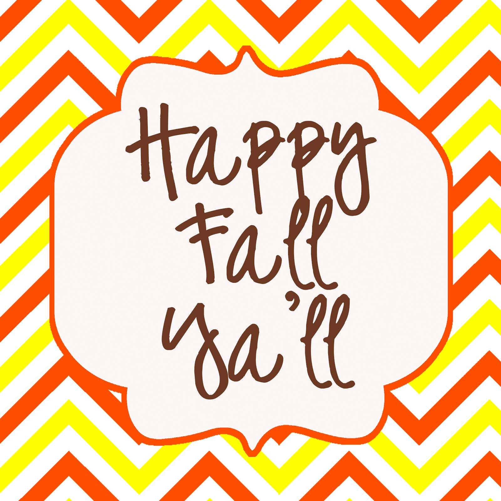 This is a picture of Sassy Happy Fall Yall Printable