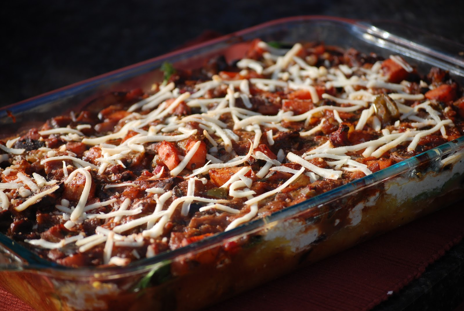 tofu vegetable casserole with tofu topping vegetable casserole with ...