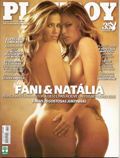 Confira as fotos das gostosas do Big Brother Brasil,  Fani Pacheco e Natália Casassola, capa da Playboy de novembro de 2010!