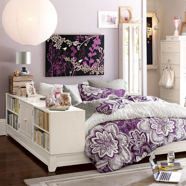 Bedroom Teenage Small Girls Room Purple Large Size: Home Quotes: Stylish Teen Bedroom Ideas For Girls
