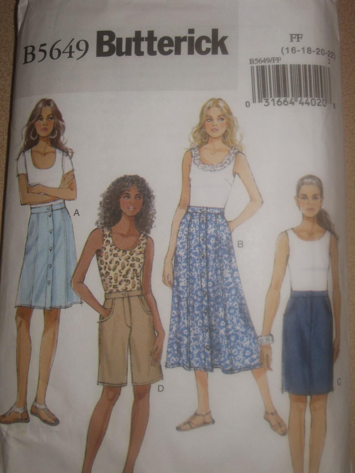 Butterick 5649 Skirt www.sewplus.blogspot.com