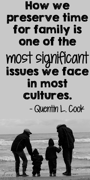 How we preserve time for family is one of the most significant issues we face in most cultures. - Quentin L. Cook