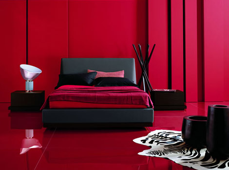 deco chambre interieur conceptions chambres coucher rouge et noir. Black Bedroom Furniture Sets. Home Design Ideas