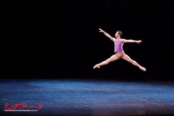 Jet - Chengwu Guo,, The Australian Ballet, ART TO SKY (2014) by choreographer Stephen Baynes, performance Sydney Opera House - Photographed by Kent Johnson.
