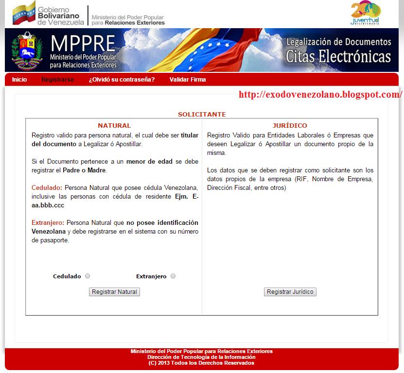 Xodo venezolano apostillar documentos para el extranjero for Ministerio de relaciones interiores